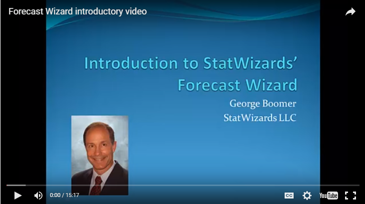 Introduction to StatWizards' Forecast Wizard