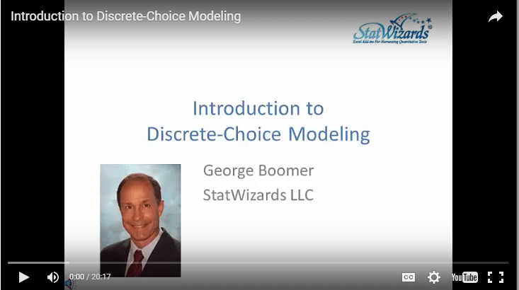 Introduction to Discrete-Choice Modeling